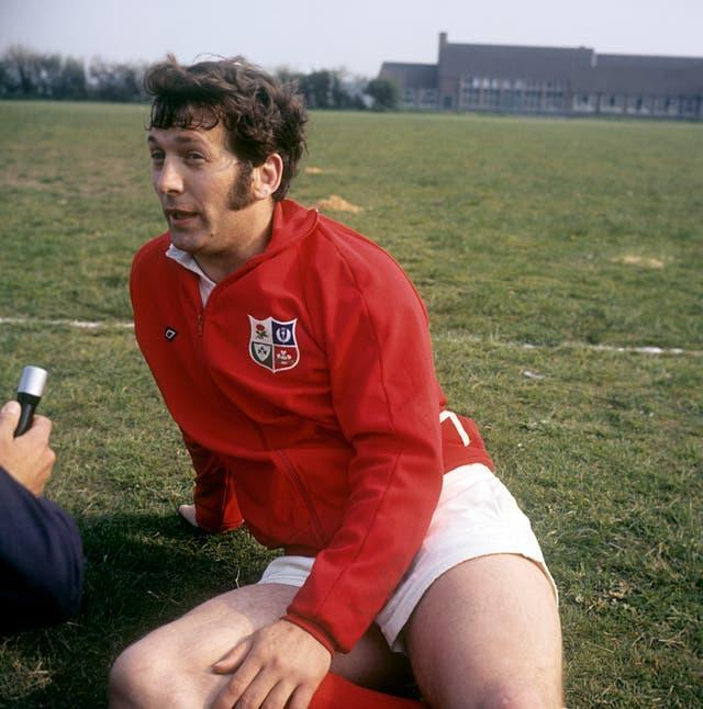 John Dawes led the Lions to a series victory over New Zealand in 1971