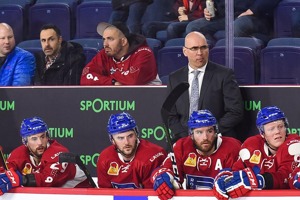 Recently hired assistant Sylvain Lefebvre's tenure in Columbus lasted exactly zero games after he refused to comply with the NHL's vaccine mandate. (Getty)