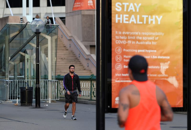 FILE PHOTO: Easing restrictions following the spread of the coronavirus disease (COVID-19) in Sydney