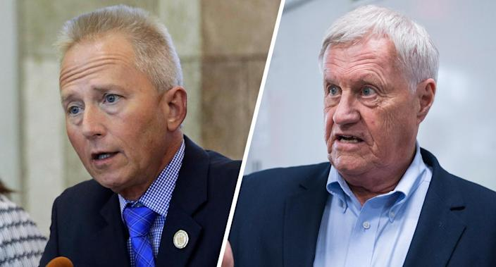 Reps. Jeff Van Drew and Collin Peterson. (Photos: Mel Evans/AP, Tom Williams/CQ Roll Call/Getty Images)