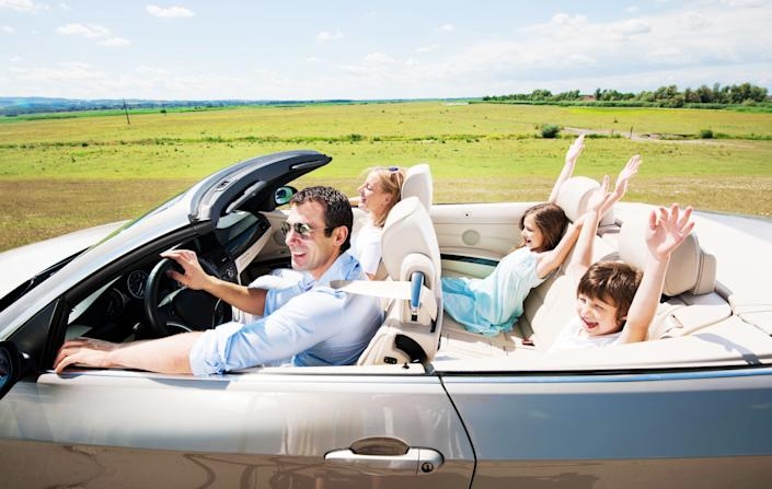 """There is one big exception to the drive-less-to-save-money rule: when you're taking the family to a destination less than 500 miles away. Then it's actually cheaper to drive than to fly.With the average cost of a roundtrip U.S. flight hovering at $367, Time magazine calculated that a family of four can <a href=""""http://time.com/money/page/101-ways-make-1000-more-2018/?xid=homepage"""" target=""""_blank"""" data-rapid-parsed=""""slk"""">save more than $1,200</a> by driving when they're heading somewhere less than 500 miles away― even when an overnight stop is included."""
