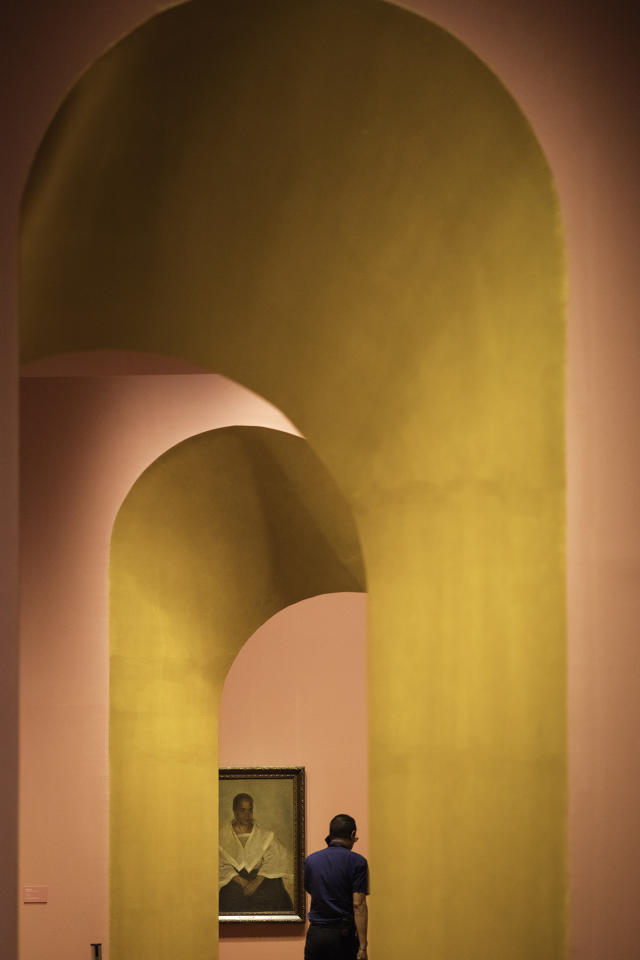 <p>Another reason to check out the new Between the Worlds: Raden Saleh and Juan Luna exhibition at National Gallery – the classic Instagram-worthy exhibition design and vivid colours. (Photo: Don Wong for Yahoo Lifestyle Singapore) </p>