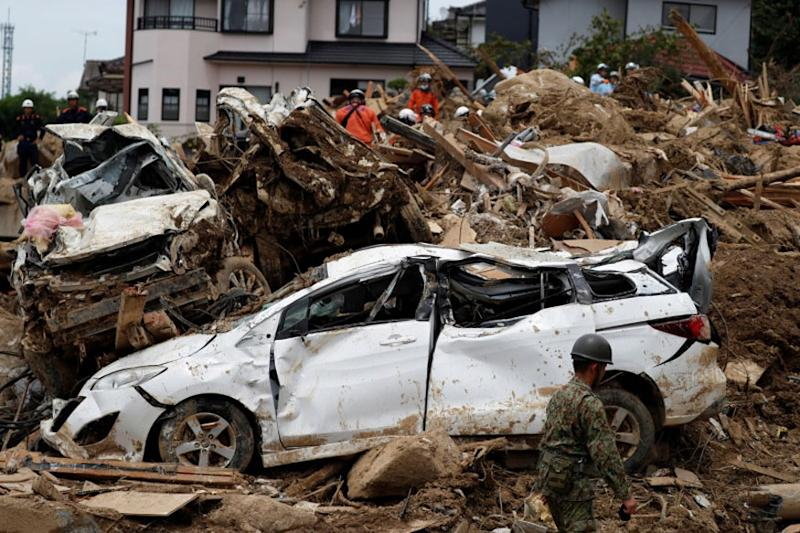 Japan Tackles Rescue, Clean-up as Rain Death Toll Hits 200