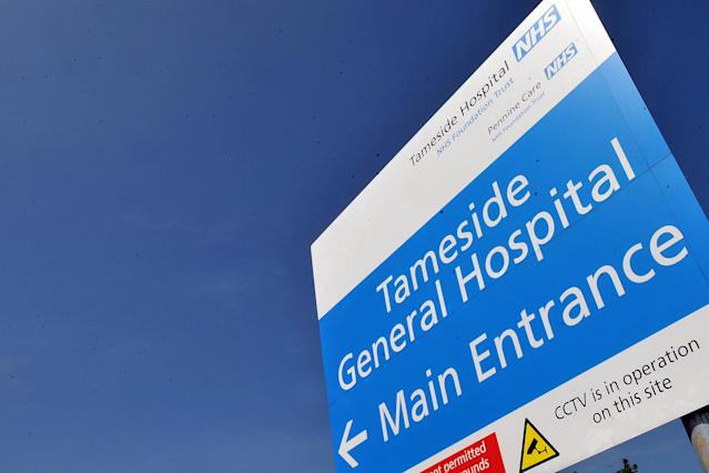 The three-month-old was discharged from Tameside Hospital in Greater Manchester before being readmitted (MEN)