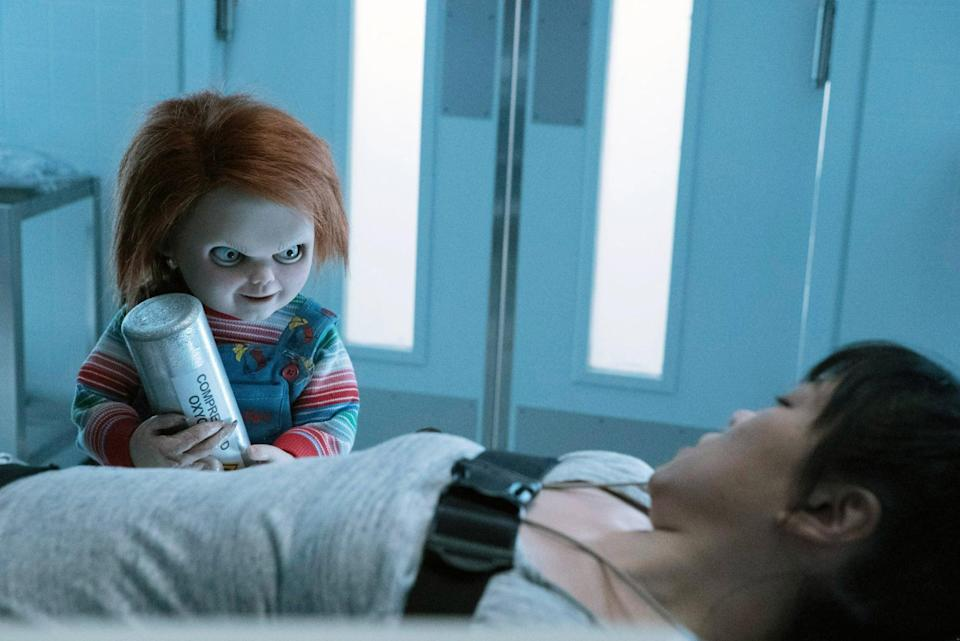 """<p>The killer doll is back, and this time his mission is to kill people in an asylum for the criminally insane. If something like this sounds up your alley, then you'll enjoy this twisted flick.</p> <p>Watch <a href=""""https://www.netflix.com/title/80199767"""" class=""""link rapid-noclick-resp"""" rel=""""nofollow noopener"""" target=""""_blank"""" data-ylk=""""slk:Cult of Chucky""""><strong>Cult of Chucky</strong></a> on Netflix now.</p>"""