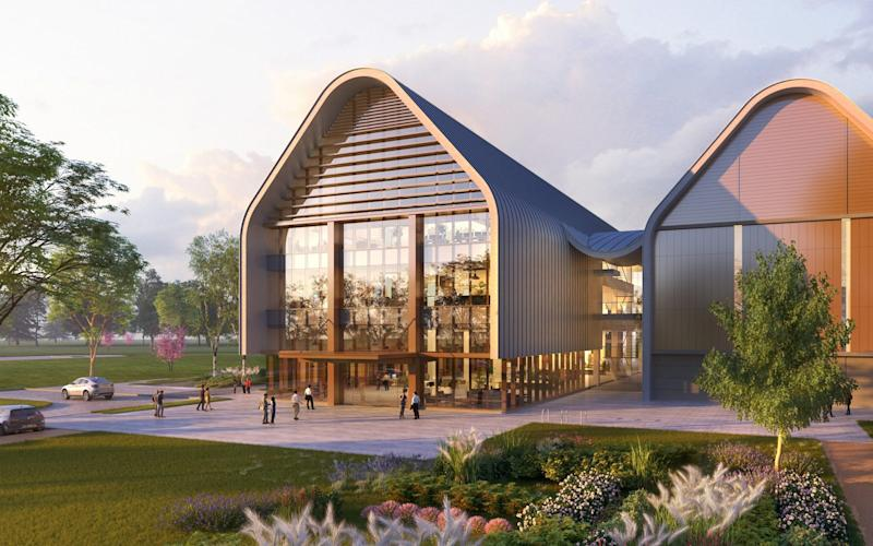 An illustration of part of Huawei's planned Cambridgeshire research site - Huawei