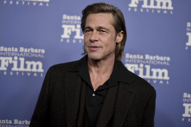 Brad Pitt attends the 2020 Santa Barbara International Film Festival Maltin Modern Master Award on Wednesday, Jan. 21, 2020, in Santa Barbara, Calif. (Photo by Richard Shotwell/Invision/AP)