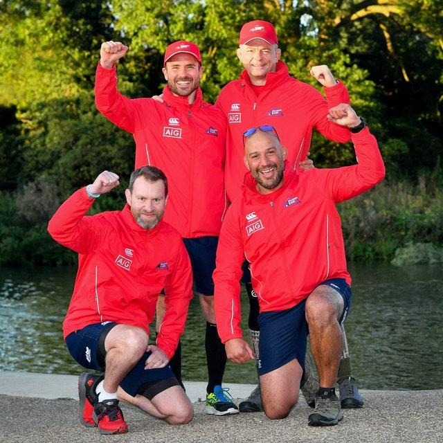 The four-strong team set off from Lechlade in Gloucestershire and are heading to Teddington in south west London (Ben Birchall/PA).