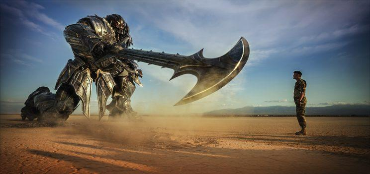 Lennox (Josh Duhamel) stands up to Megatron in