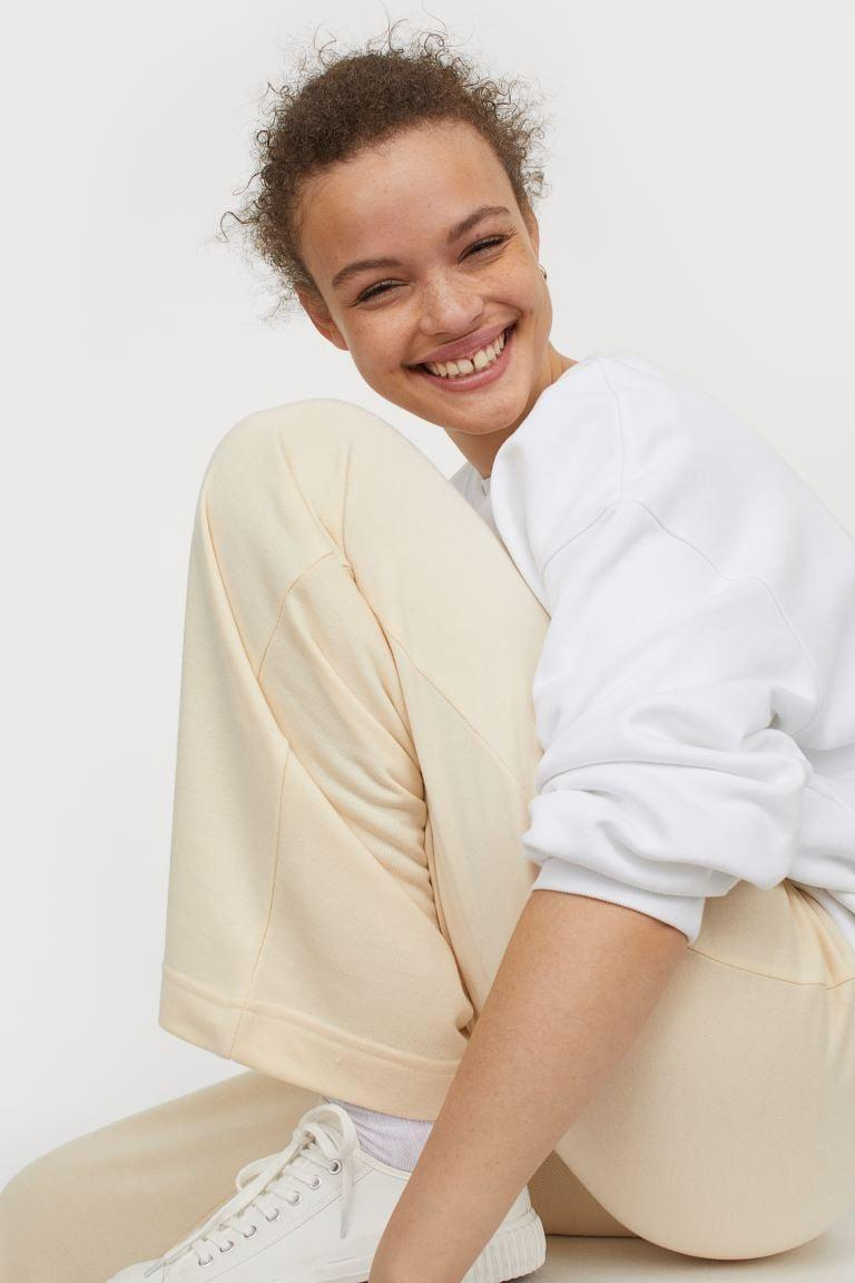<p>These <span>H&amp;M Straight Jersey Pants</span> ($18) feel like sweats, but look a little more dressed up.</p>