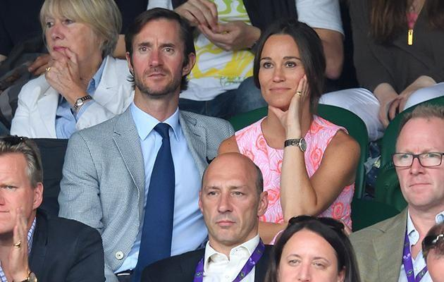 Pippa Middleton and Matthew James pictured together at Wimbledon.