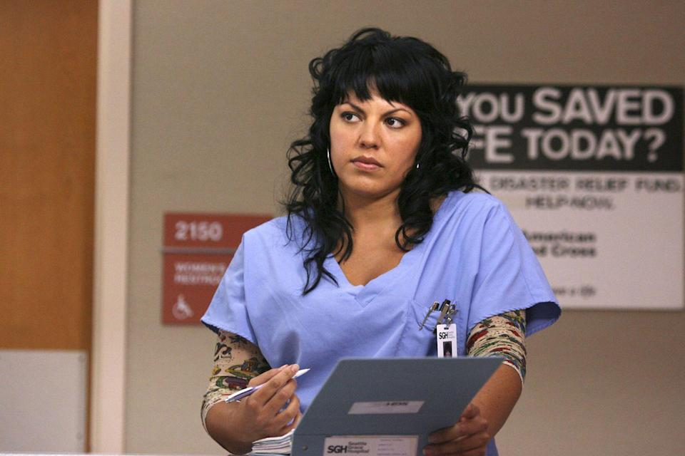 <p>Sara Ramirez's Callie Torres started out as a recurring character (a senior orthopedic resident) in season 2 of <em>Grey's Anatomy</em>. </p>