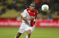 Radamel Falcao eyes the ball during a match in Monaco on November 8, 2013 (AFP Photo/Valery Hache)