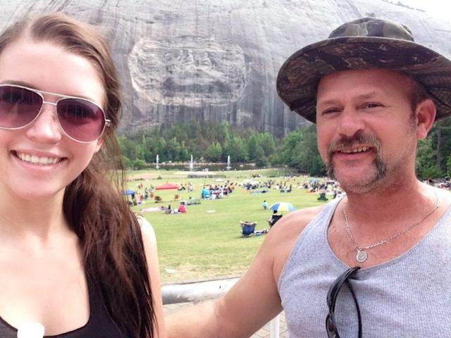 Rylee Black and her father, Shawn, during a camping trip to Stone Mountain, Ga. (Photo: Rylee Black)