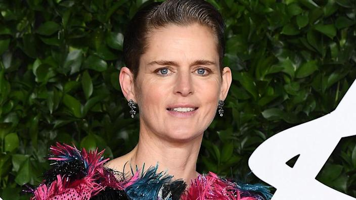 Stella Tennant arrives at The Fashion Awards 2019 held at Royal Albert Hall