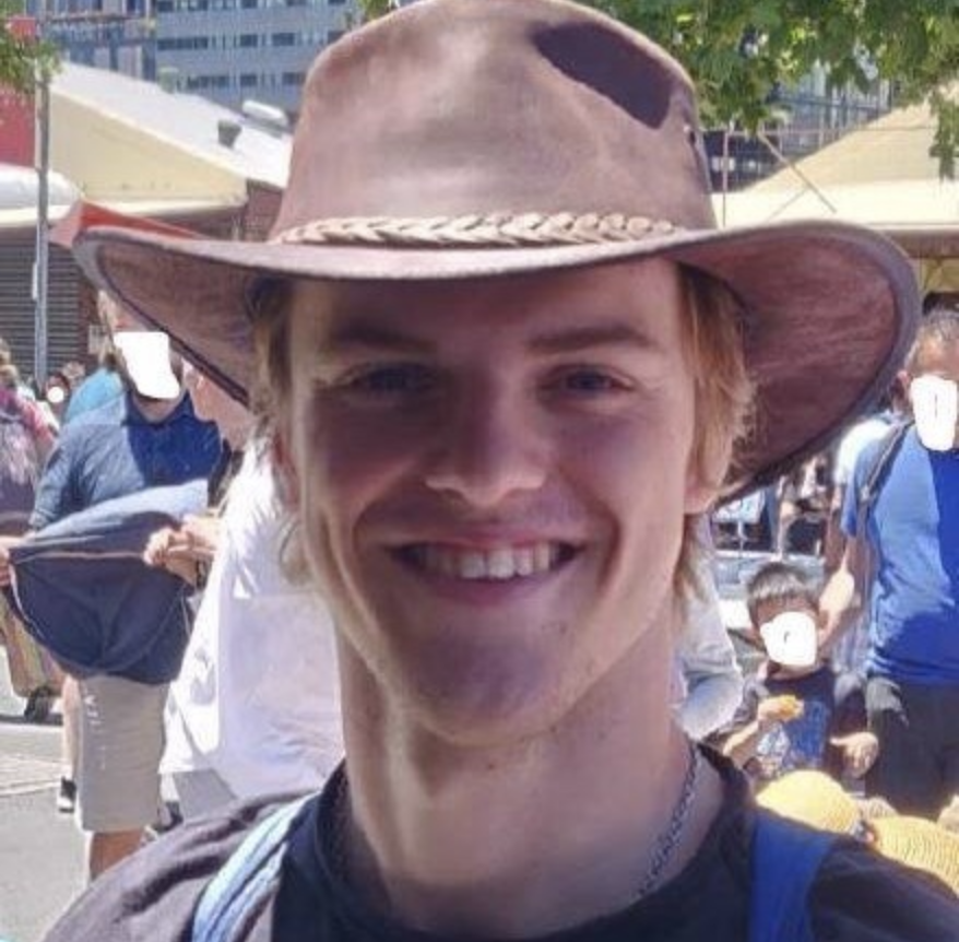 Photo of Theo Hayez after police found remains in Byron Bay.