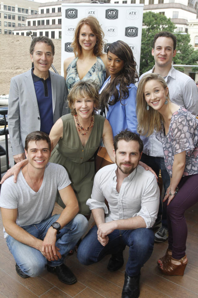 """Executive Producer Michael Jacobs, Maitland Ward, Trina McGee, Ben Savage, Betsy Randle, Lily Nicksay, Matthew Lawrence, and Rider Strong attend the """"Boy Meets World"""" reunion panel at the ATX Television Festival on Friday, June 7, 2013 in Austin, Texas.(Photo by Jack Plunkett)"""