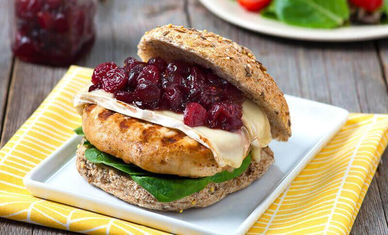 """<p><a href=""""https://www.thedailymeal.com/our-50-best-burger-recipes-gallery?referrer=yahoo&category=beauty_food&include_utm=1&utm_medium=referral&utm_source=yahoo&utm_campaign=feed"""" rel=""""nofollow noopener"""" target=""""_blank"""" data-ylk=""""slk:The best-ever burger recipes"""" class=""""link rapid-noclick-resp"""">The best-ever burger recipes</a> are great during any season, and this autumnal burger features a cranberry chutney and brie on top of a turkey burger.</p> <p><a href=""""https://www.thedailymeal.com/best-recipes/turkey-burger-cranberry-chutney?referrer=yahoo&category=beauty_food&include_utm=1&utm_medium=referral&utm_source=yahoo&utm_campaign=feed"""" rel=""""nofollow noopener"""" target=""""_blank"""" data-ylk=""""slk:For the Turkey Burgers With Cranberry Chutney and Brie recipe, click here."""" class=""""link rapid-noclick-resp"""">For the Turkey Burgers With Cranberry Chutney and Brie recipe, click here.</a></p>"""
