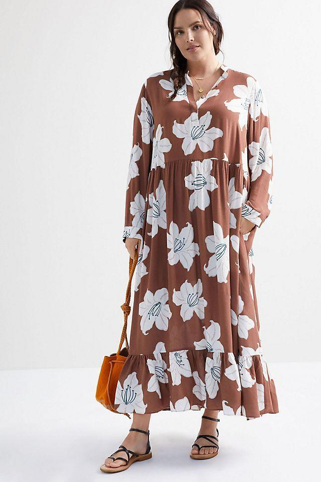 """<p><strong>Mare Mare</strong></p><p>anthropologie.com</p><p><strong>$158.00</strong></p><p><a href=""""https://go.redirectingat.com?id=74968X1596630&url=https%3A%2F%2Fwww.anthropologie.com%2Fshop%2Flynda-maxi-dress&sref=https%3A%2F%2Fwww.oprahdaily.com%2Fstyle%2Fg32465022%2Fplus-size-maxi-dresses%2F"""" rel=""""nofollow noopener"""" target=""""_blank"""" data-ylk=""""slk:SHOP. NOW"""" class=""""link rapid-noclick-resp"""">SHOP. NOW</a></p><p>Billowy frocks bring to mind a free-spiritedness, especially in a boho print. </p>"""