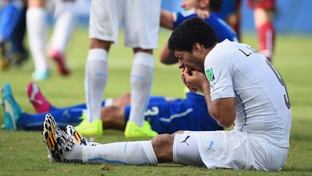 <p>Prior to 2014, Luis Suarez had already served a seven-game ban for biting PSV Eindhoven player Otman Bakkal, an eight-game ban for racially abusing Manchester United's Patrice Evra, and a 10-game ban for biting Chelsea defender Branislav Ivanovic.</p> <br><p>So when he then bit Italy centre-back Giorgio Chiellini at the 2014 World Cup, FIFA had little option but to throw the book at him. Suarez was handed a worldwide ban of four months, during which he left Liverpool for Barcelona in a deal worth £75m.</p>