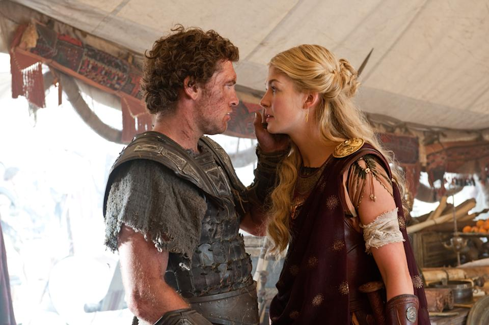 "Sam Worthington and Rosamund Pike in Warner Bros. Pictures' <a href=""http://movies.yahoo.com/movie/wrath-of-the-titans/"" data-ylk=""slk:Wrath of the Titans"" class=""link rapid-noclick-resp"">Wrath of the Titans</a> - 2012"