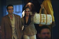 <p>Shopping in Paris in April 2003, the couple subtly coordinated in tan blazers, though Jennifer's bag and shades are the obvious stars here. </p>