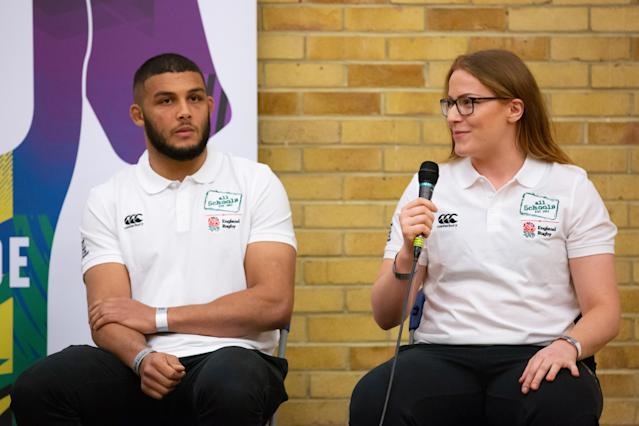 England second row Catherine O'Donnell graduated from Loughborough University with a masters in work psychology last year