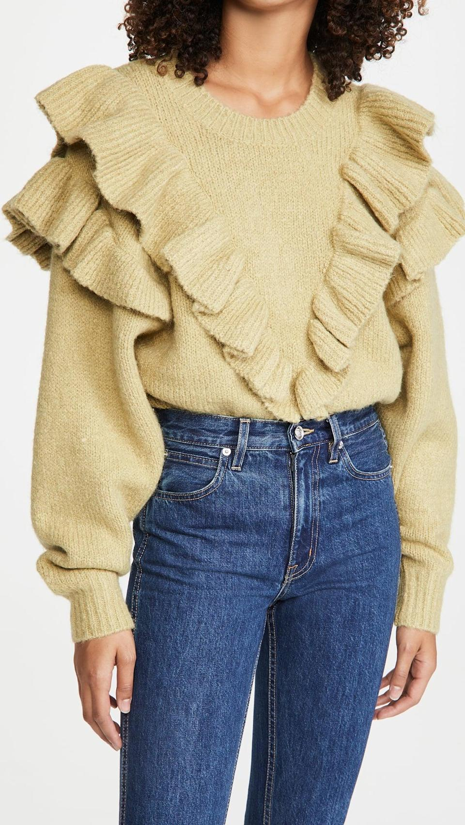 <p>Make a statement in this <span>Lost + Wander Verace in Mind Sweater</span> ($95).</p>