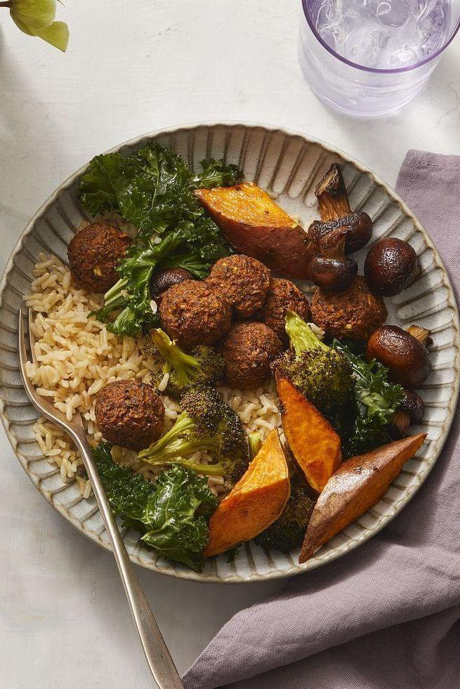 """<p>Bowls are the perfect option for brunch, and when you have one that's packed with veggies and a zesty sauce, you can't go wrong.</p><p><strong><em><a href=""""https://www.womansday.com/food-recipes/a31001793/lentil-broccoli-falafel-bowls-with-jalapeno-herb-tahini-recipe/"""" rel=""""nofollow noopener"""" target=""""_blank"""" data-ylk=""""slk:Get the recipe for Lentil Broccoli Falafel Bowls With Jalapeño-Herb Tahini."""" class=""""link rapid-noclick-resp"""">Get the recipe for Lentil Broccoli Falafel Bowls With Jalapeño-Herb Tahini. </a></em></strong></p>"""