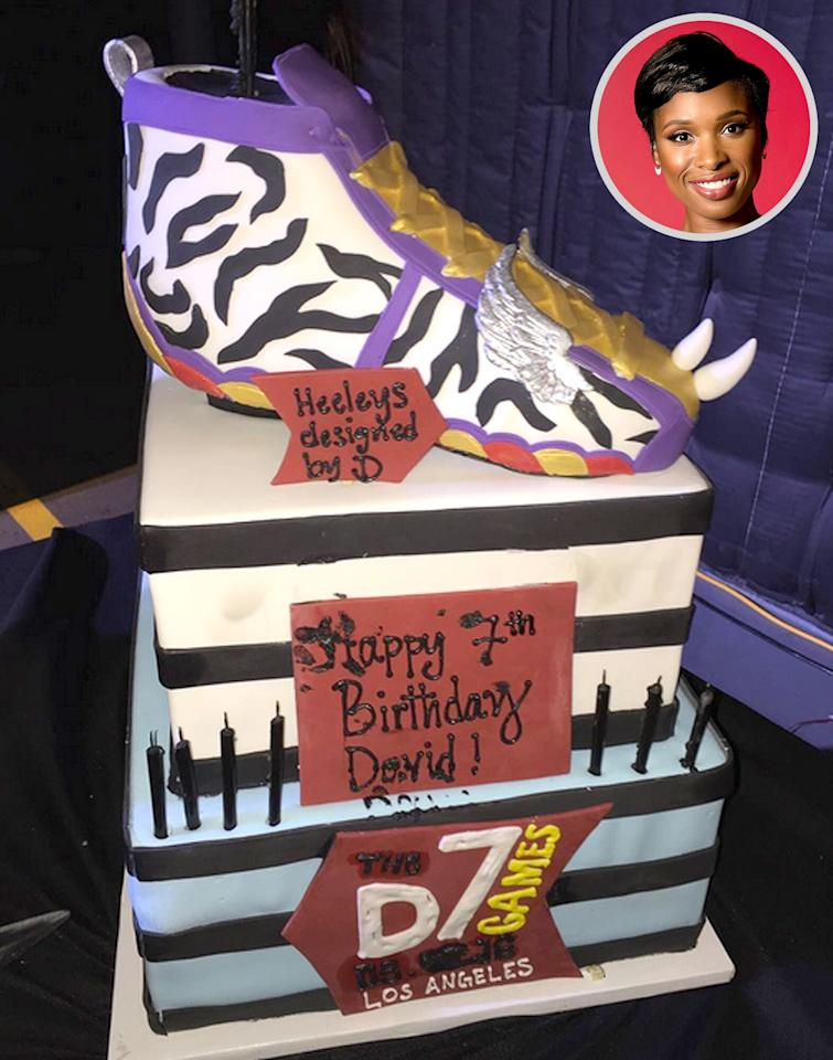 """The <a href=""""http://www.people.com/people/jennifer_hudson/"""">singer and actress</a> gave her son, David, a D7 Games-themed birthday party for his 7th year, complete with <a href=""""https://www.instagram.com/p/BI8-AVIg0CT/?taken-by=iamjhud&hl=en"""">a colorful cake</a> topped with a Heeley's sneaker. Partygoers engaged in a <a href=""""https://www.instagram.com/p/BI8_qG3Avgo/?taken-by=iamjhud&hl=en"""">cake fight</a>, but we sure hope they were able to gobble up a few slices as well!"""