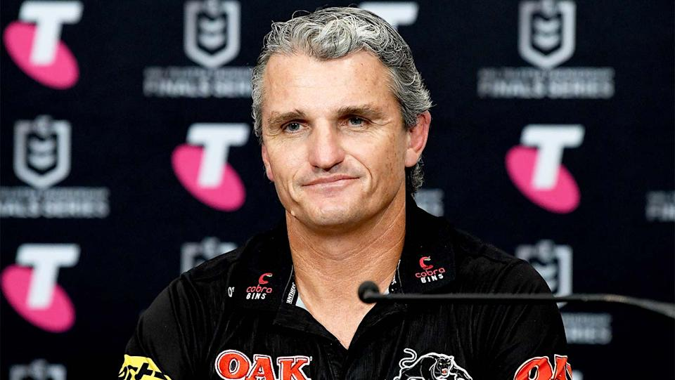 Penrith Panthers coach Ivan Cleary (pictured) during a press conference.