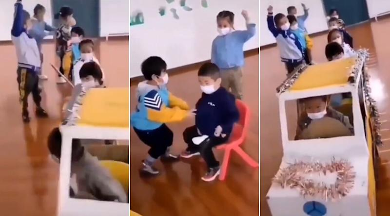 Children Being Taught How to Responsibly Travel in a Bus Inside Classroom Impresses Netizens, Garners Praises (Watch Video)