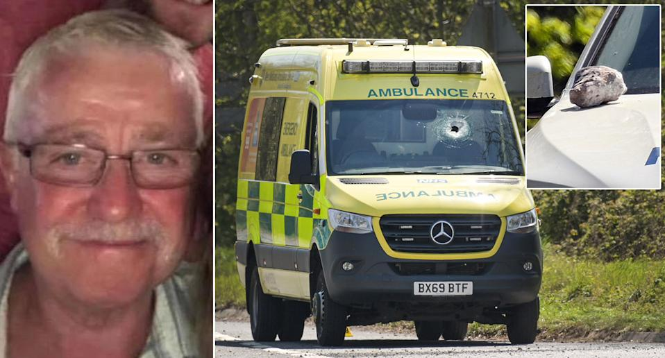 Jeremy Daw was killed after a stone pierced through the windscreen of his ambulance. (PA/SnapperSK)