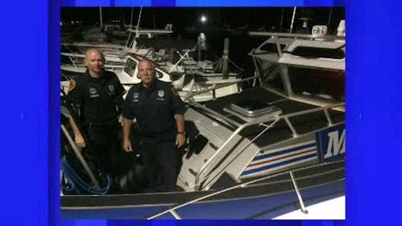 Father and son stuck in strong rip tide rescued in