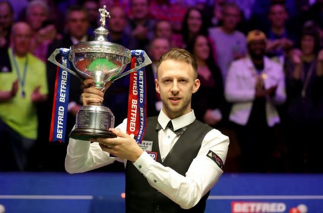 Judd Trump is aiming to retain his world snooker title (Richard Sellers/PA)