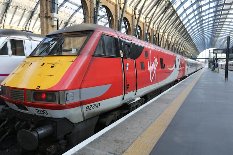 A Virgin East Coast train at King's Cross, London. (PA Archive/PA Images)