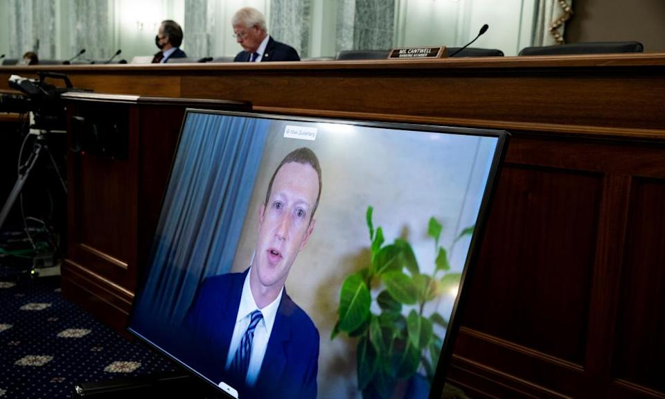 In October, the Facebook CEO, Mark Zuckerberg, testified remotely during the Senate commerce, science, and transportation committee hearing.