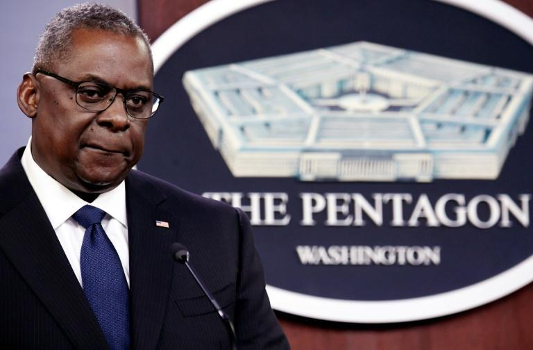US Defense Secretary Lloyd Austin speaks to reporters about the Taliban takeover of Afghanistan