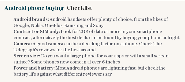 Android phone buying | Checklist