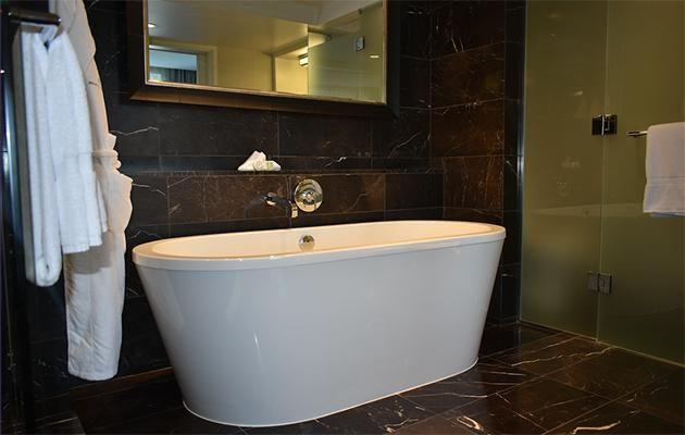 Look at the size of the bathtub in our room. Photo: Supplied