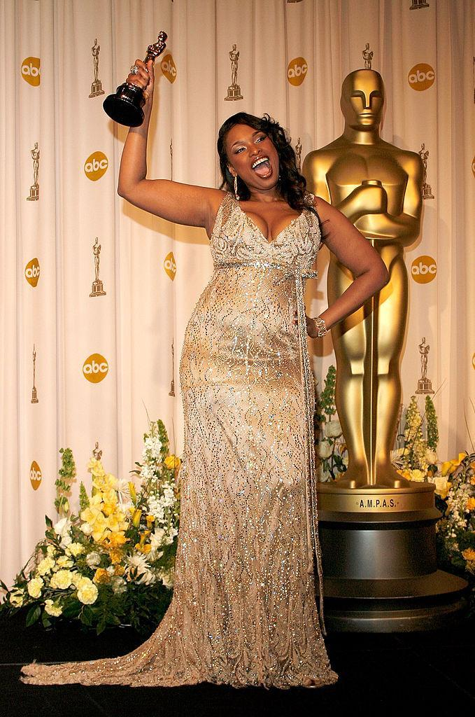 <p>Jennifer Hudson shimmered and shined in Roberto Cavalli. (Photo: Getty Images) </p>