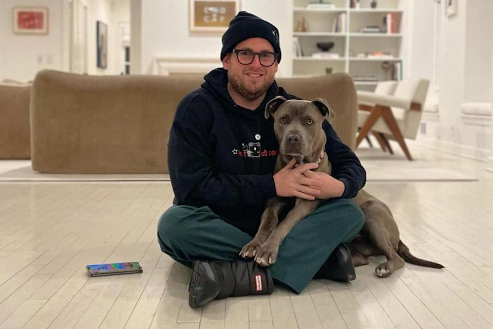 """<p>The actor is a proud<a href=""""https://people.com/pets/jonah-hill-adopts-3-year-old-pitbull/"""" rel=""""nofollow noopener"""" target=""""_blank"""" data-ylk=""""slk:new dog dad to pitbull Fig"""" class=""""link rapid-noclick-resp""""> new dog dad to pitbull Fig</a>, whom he adopted from <a href=""""http://loveleorescue.org/"""" rel=""""nofollow noopener"""" target=""""_blank"""" data-ylk=""""slk:Love Leo Rescue"""" class=""""link rapid-noclick-resp"""">Love Leo Rescue</a> in L.A.</p> <p>""""Thank you so much @loveleorescue you gave me a massive gift and I appreciate you and the work you and your foster parent volunteers do,"""" <a href=""""https://www.instagram.com/p/CJ5ARn_lasd/"""" rel=""""nofollow noopener"""" target=""""_blank"""" data-ylk=""""slk:he wrote on Instagram"""" class=""""link rapid-noclick-resp"""">he wrote on Instagram</a>.</p> <p>Love Leo Rescue shared their own Instagram post, revealing that Fig was found at a rural California shelter in December and had been staying with a foster owner while looking for a permanent home.</p> <p>""""Fig is home! Thank you @jonahhill for choosing to #adoptnotshop,"""" <a href=""""https://www.instagram.com/p/CJ4zhdzF-dQ/?utm_source=ig_embed"""" rel=""""nofollow noopener"""" target=""""_blank"""" data-ylk=""""slk:the nonprofit captioned their note"""" class=""""link rapid-noclick-resp"""">the nonprofit captioned their note</a>. """"All the cool kids are doing it! This beautiful, extra cuddly, three-year-old pitbull was abandoned at a rural shelter during the holiday season. We are so happy she landed where she did. Clearly it's a love connection.""""</p>"""