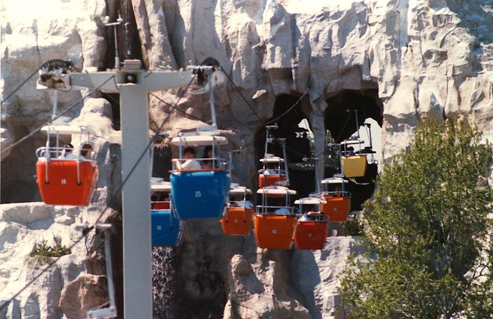 <p>To give weary visitors a rest from walking between lands, Disneyland and Disney World's Magic Kingdom provided a gondola that transported families directly from Fantasyland to Tomorrowland and back again. But ongoing construction projects and the introduction of new rides led park operators to conclude that Skyway maintenance money was better directed elsewhere. The Disneyland gondola closed in 1994, and the Magic Kingdom followed five years later in 1999. <i>(Photo: Wikipedia)</i></p>
