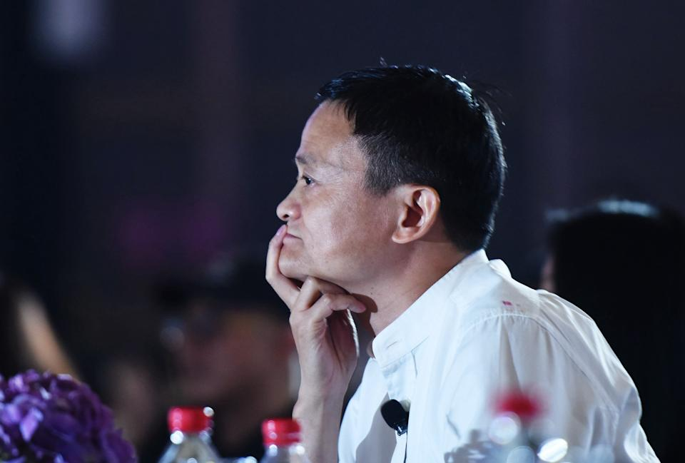 HANGZHOU, CHINA - JULY 10, 2017 - Ant Group founder Jack Ma attends the 2017 Global Women Entrepreneurs Conference. Hangzhou city, Zhejiang Province, China, July 10, 2017. On November 3, the Shanghai Stock Exchange and the Hong Kong Stock Exchange suspended the listing of Ant Technology Group Co., LTD.- PHOTOGRAPH BY Costfoto / Barcroft Studios / Future...  