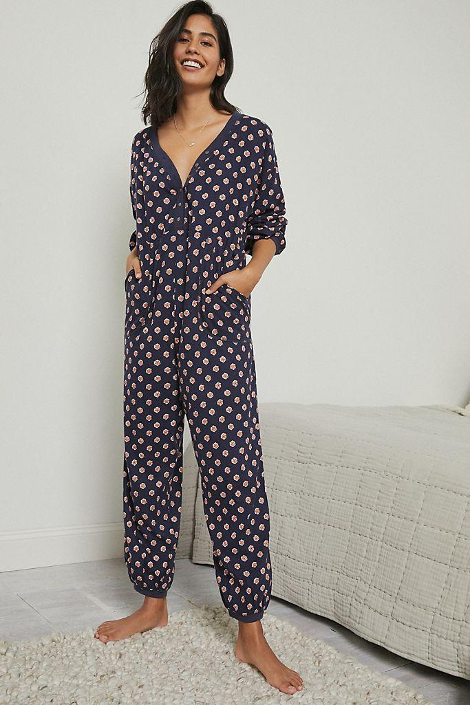 Anthropologie Fireside Flannel Jumpsuit. Image via Anthropologie