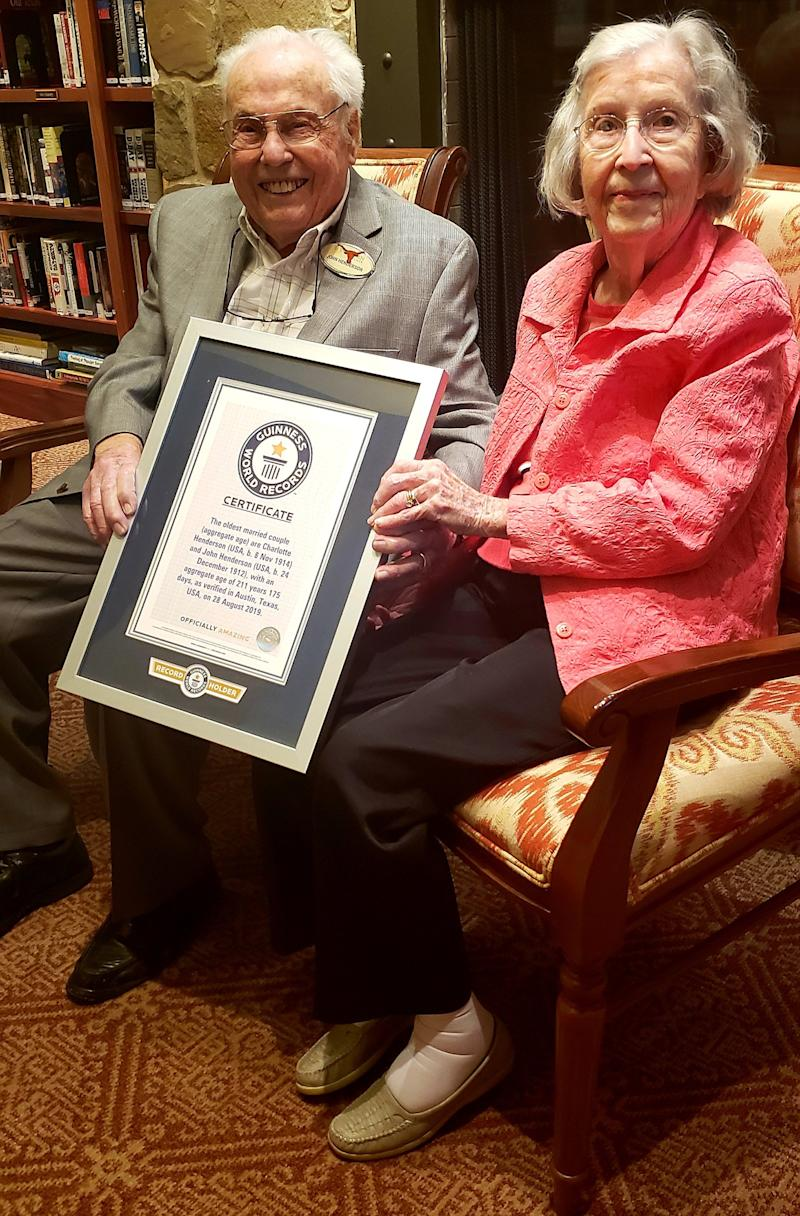 Texas Husband and Wife with Combined Age of 211 Named Oldest Couple in the World