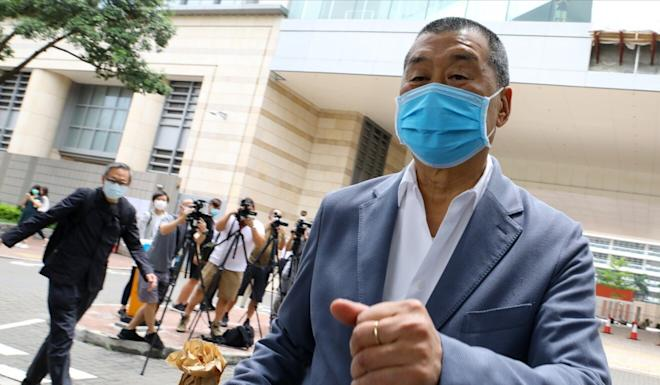 Jimmy Lai's lawyers questioned the impact of their client's alleged intimidation. Photo: Dickson Lee