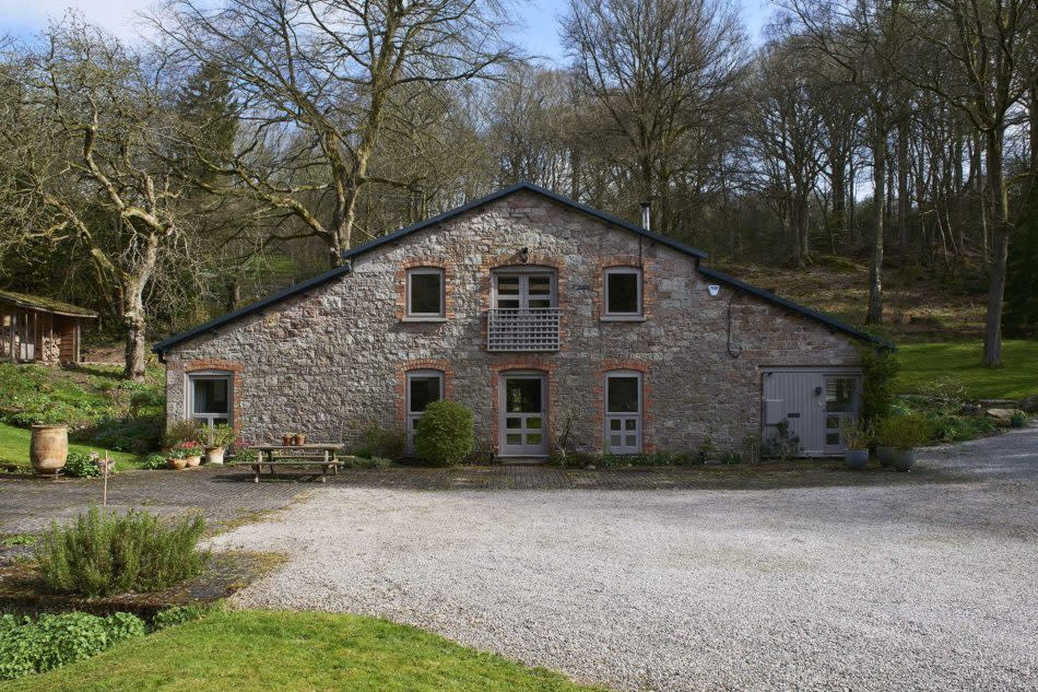 <p>Set in an idyllic Area of Outstanding Natural Beauty in Whitebrook, Monmouth, this building was once part of a busy 19th century paper mill. It was converted by the architect Brendan Woods in 1979, and extended by him at a later date. </p>