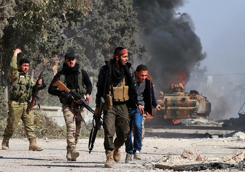 Syrian rebels launched an offensive to capture Al-Bab last year with the support of Turkish ground troops, artillery and air strikes (AFP Photo/Maan al-Shanan)