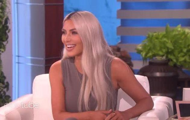 Kim let slip she and husband Kanye West are expecting a baby girl. Source: The Ellen DeGeneres Show